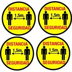 Vinilos distancia de seguridad Coronavirus(PARK 4 UNIDADES)